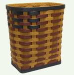 Hand Woven Recycled Plastic Rectangle Clothes Hamper