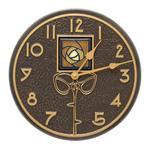 "Amber Dard Hunter Rose 12"" Indoor Outdoor Wall Clock"